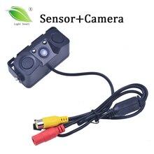 Новый автомобиль видео парковка Камера Сенсор камера заднего вида + 2 Сенсор S индикатор Би сигнализации Радар 3 в 1