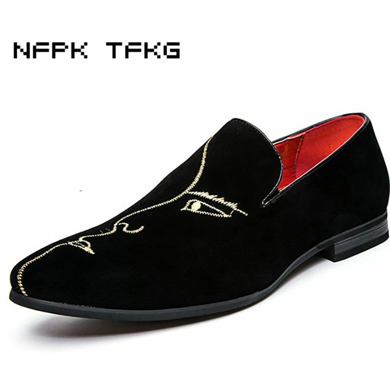 British fashion men office wedding velvet cow leather shoes breathable summer print slip on oxford shoe pointed toe loafer male british fashion men business office formal dress breathable genuine leather shoes lace up oxford shoe pointed toe teenage sapato