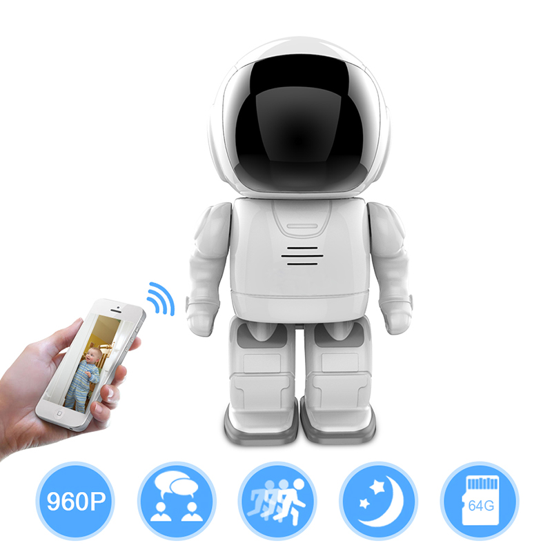Robot IP Camera HD WIFI Baby Monitor 960P 1.3MP CMOS Wireless CCTV P2P PTZ Onvif Audio Security Remote Wi-fi IR Night Vision robot camera wifi 960p 1 3mp hd wireless ip camera ptz two way audio p2p indoor night vision wi fi network baby monitor security