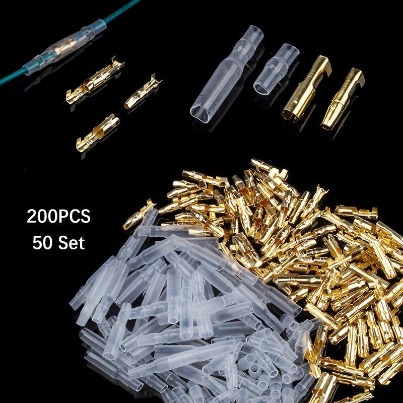 18 Pcs 3mm Diameter Wire Brass Female Crimp Terminal Connectors 4mm