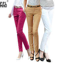 Casual Plus Size 4XL Office Pencil Pants Women 2019 Factory Wholesale Cheap 95%Cotton Stretch Trousers Women Work Pants Ladies