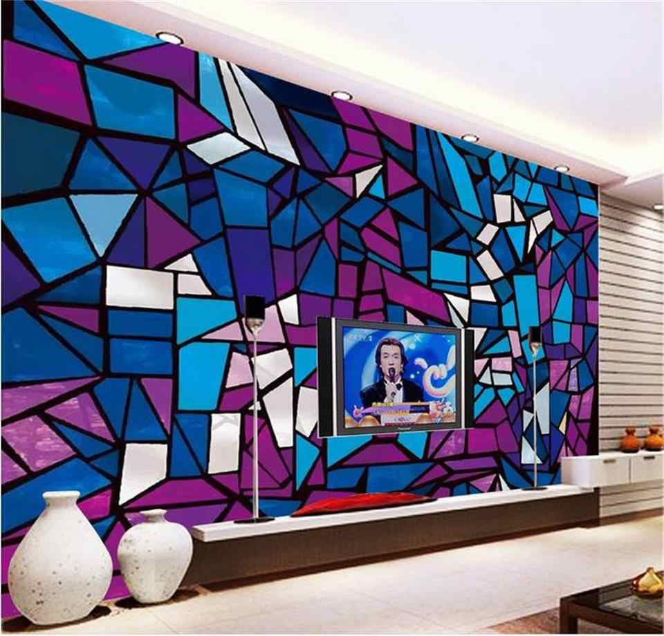 Custom 3d Photo Wallpaper Home Decor Room Mural Freehand Church Stained Glass Hd Painting Sofa Tv Background Non Woven Wallpaper