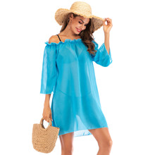 2019 Women Beach Cover Up Bikini dress Swimsuit Dress bath suit sexy summer beach wear vestidos cover