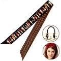 Classic Women Winter Silk Scarves Multifunction 100x5cm Skinny Twilly Ribbon Luxury Brand Hair/Handbag Band Decoration Tie S7