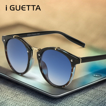 iGUETTA Vintage Round Sunglasses Women Brand Designer Sunglass 2019 High Quality Gradient Luxury Oculos De Sol
