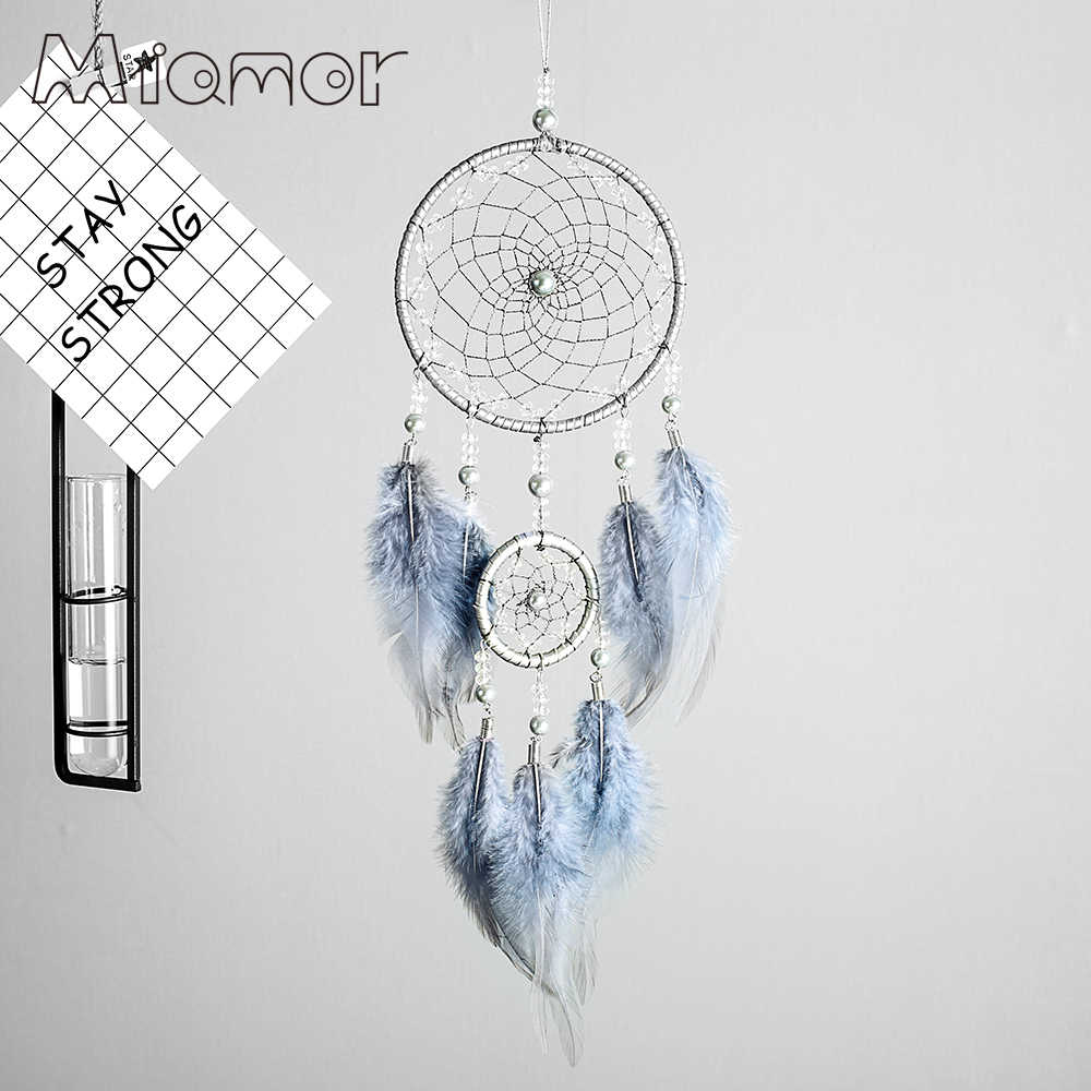 Handmade Polycyclic Dreamcatcher Wedding & Bar & Home Wall Hanging Decor Dream Catcher With Feather Decor Ornament Amor0122