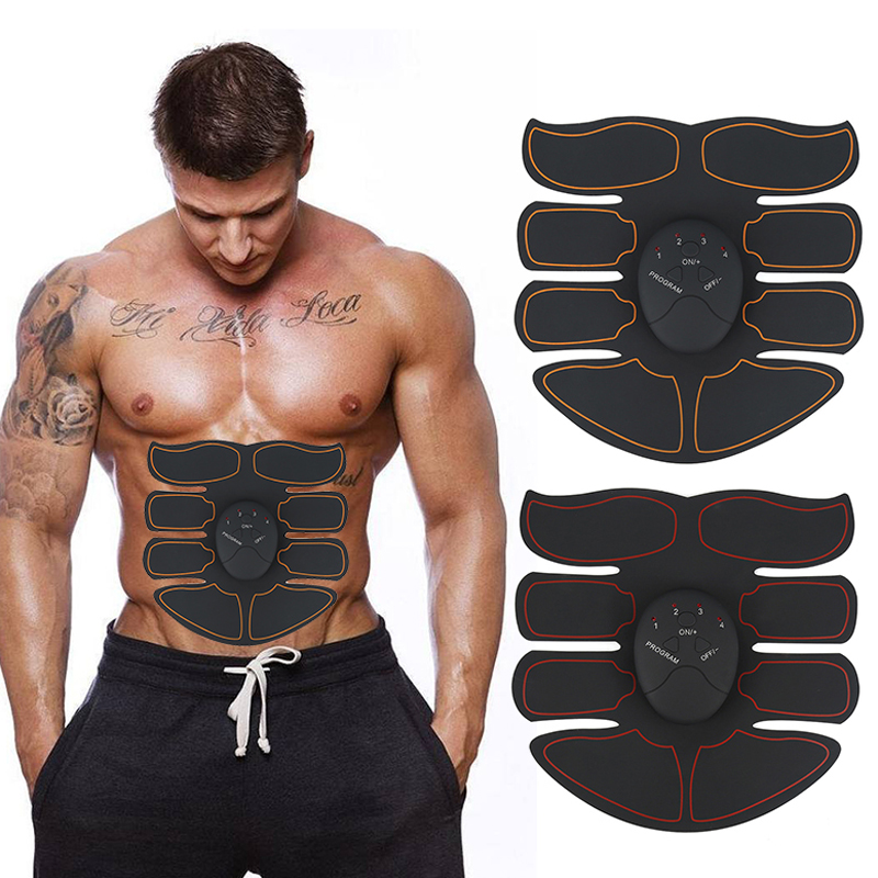 New EMS Abdominal Muscle Exerciser Trainer Smart ABS Stimulator Fitness Gym ABS Stickers Pad Body Loss Slimming Massager Unisex abdominal muscle trainer abs electrical muscle stimulator ems fitness trainer weight loss body slimming massager with three host