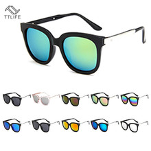 TTLIFE Simple Personality Sunglasses Men And Women Trend Outdoors Eyeglasses Mirror Colorful Retro Eyewear YJHH0110