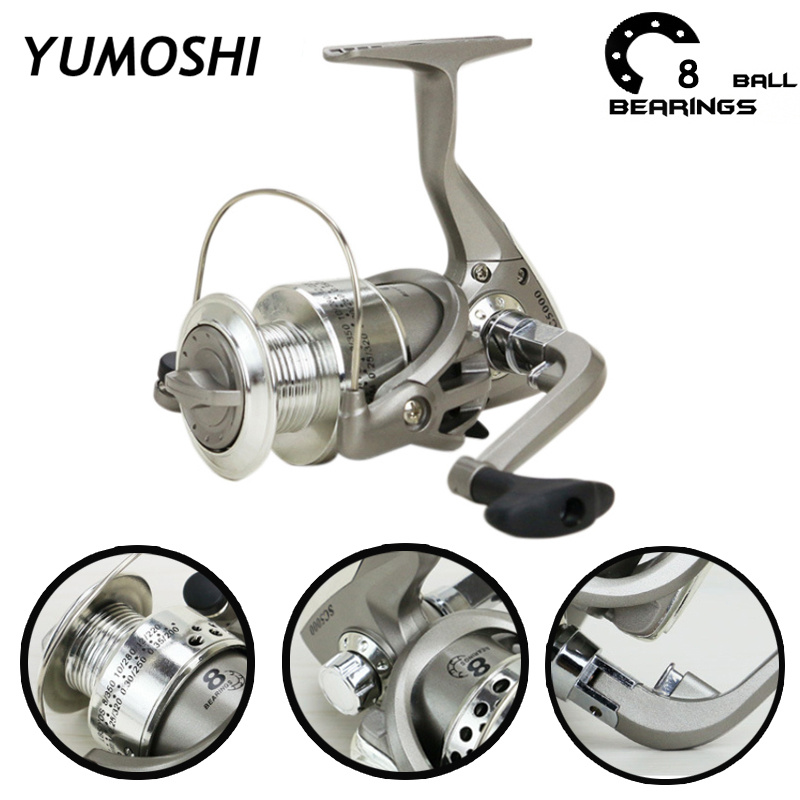 8BB Plastic Plating Head Fishing Reels 5.5:1 Spinning Fishing Reels Left and Right Fishing Reels Sports Equipment Accessories