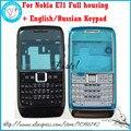 Для Nokia E71 Новый Полный Полный Мобильный Телефон Крышка Корпуса Чехол + Английский или Русский Клавиатура + Инструменты, бесплатная Доставка