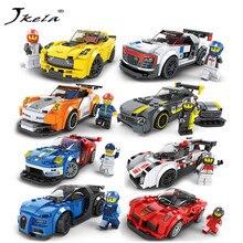 [Jkela] Técnica Cidade Super Velocidade Pilotos Campeões Blocos DIY Tijolos de Construção de Carro De Corrida Para Crianças Modelo Supercarro legoingly brinquedos