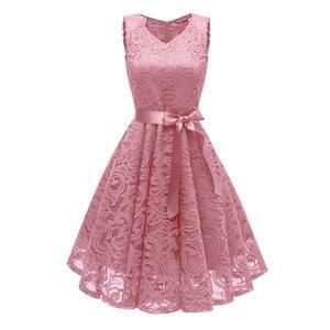 ba62433b1b7 Versear Crochet Lace Hollow Out Women Elegant Mini Party Dresses for Women  2018 Korea Style Sleeveless Belt Banquet Tutu Dresses