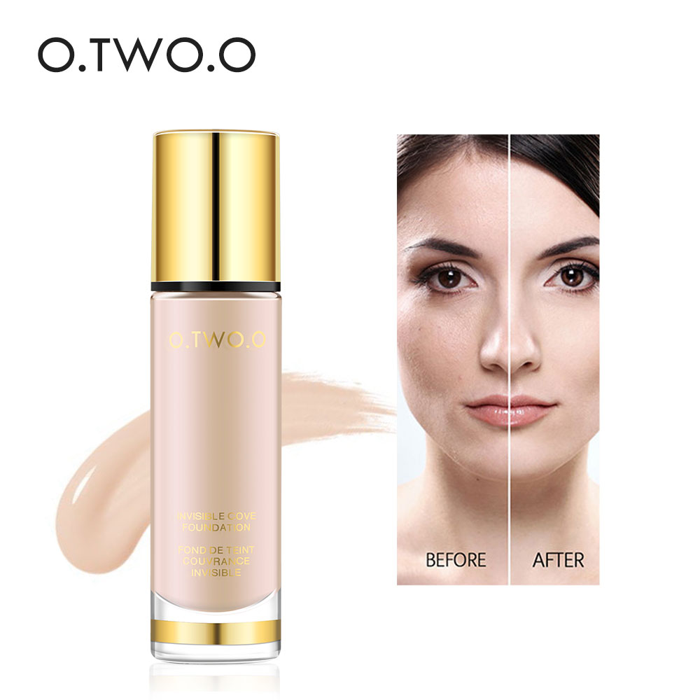 O.TWO.O Liquid Foundation Invisible Full Cover Concealer Whitening Moisturizing Cream Sunscreen Makeup Foundation 30ml  9983|Face Foundation| |  -