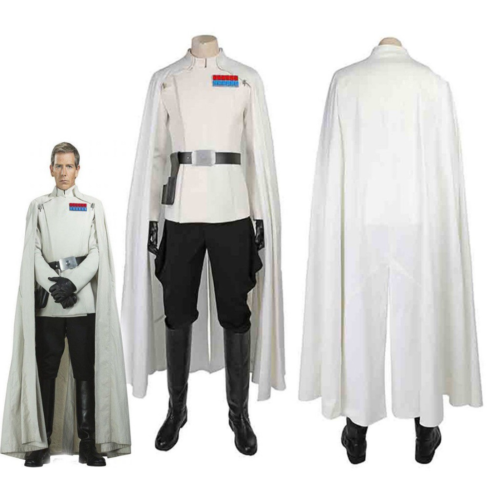Rogue One:A Star Wars Story Orson Krennic Cosplay Costume Uniform Boots Full Set