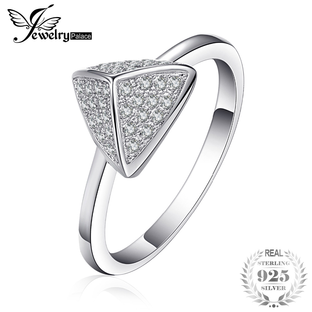 Jewelrypalace Distinctive Cubic Zirconia Pave Ring 925