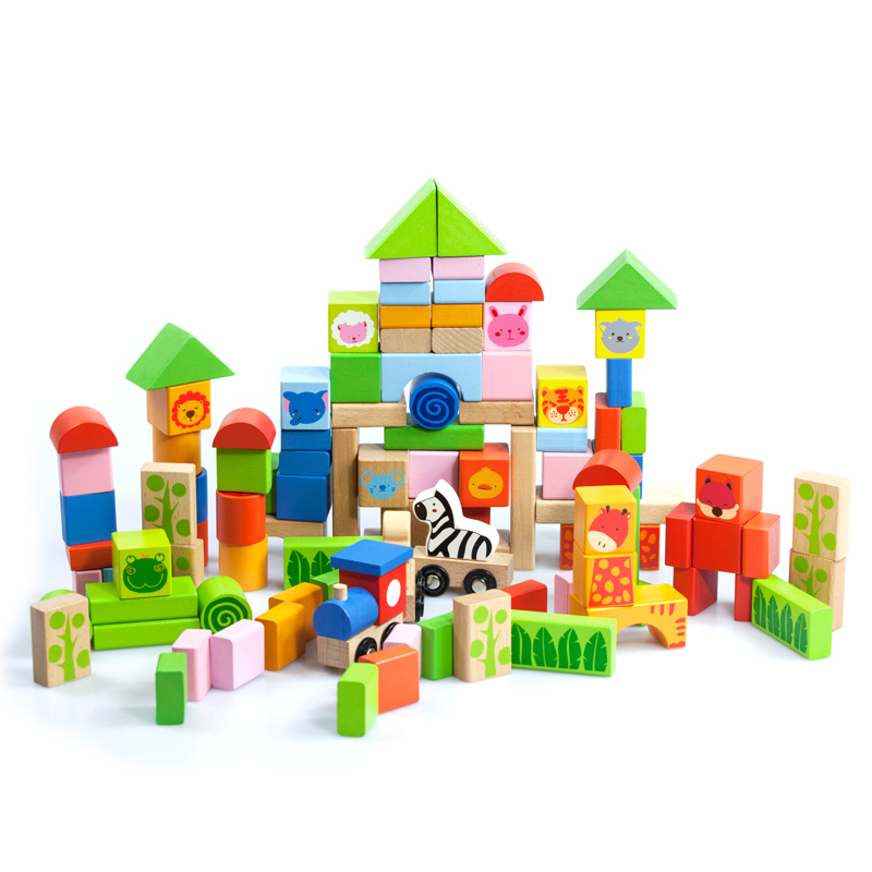 MWSJ 100 Pcs Wooden Animal Forest Buliding Blocks BHW051 for Boys and Girls Aged 1-2-3-4-5 Early Childhood Educational Toys paul mupa and raphinos a chabaya early childhood development pedagogy and student performance