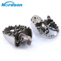 Nordson Wide Rotating Motorcycle Foot pegs In Foot Rests Pedals Stainless steel For Motorbike Benelli TRK502 2017