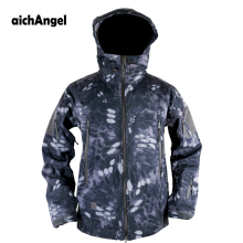 aichAngeI Army Camouflage Man Coat Military Jacket Waterproof Windbreaker Tactical Softshell Hoodie Jacket  Winter Outwear