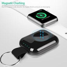 Внешний аккумулятор Ruagee для Apple Watch 1, 2, 3, 4, 5, 700 мАч, беспроводное зарядное устройство Qi, внешний аккумулятор, портативное Внешнее мини зарядное устройство для iWatch