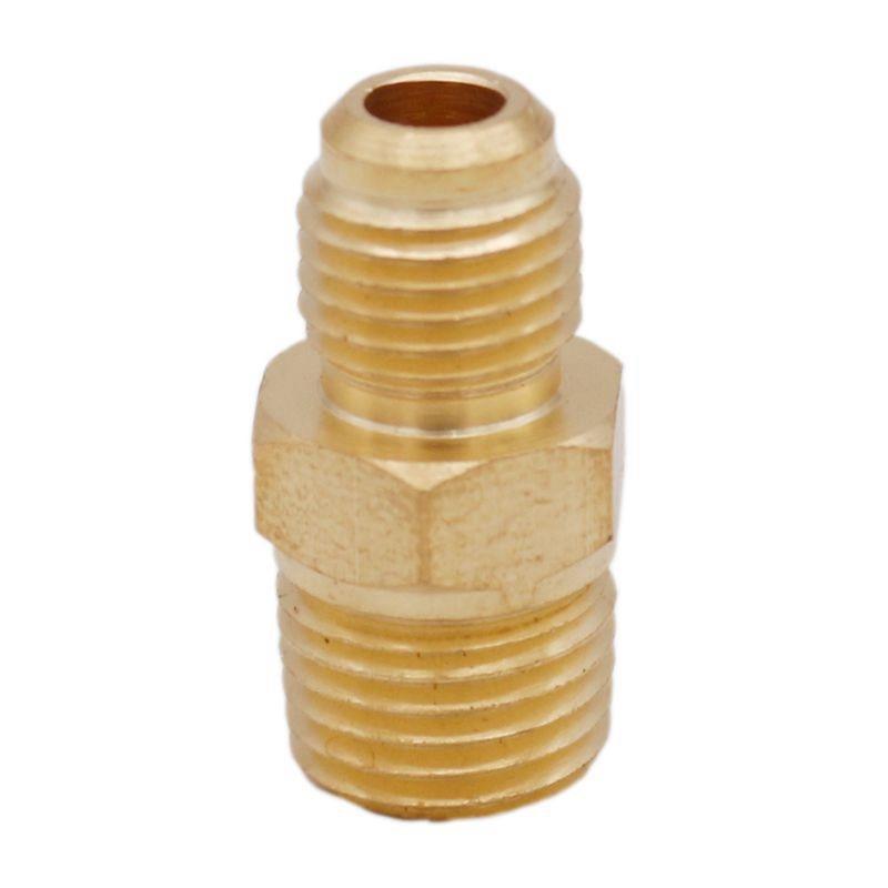 "Brass Connector -1//8/"" Male Pipe NPTx1//4/"" Male Flare-Manifold//Vac.Pump//Plumbing 3"