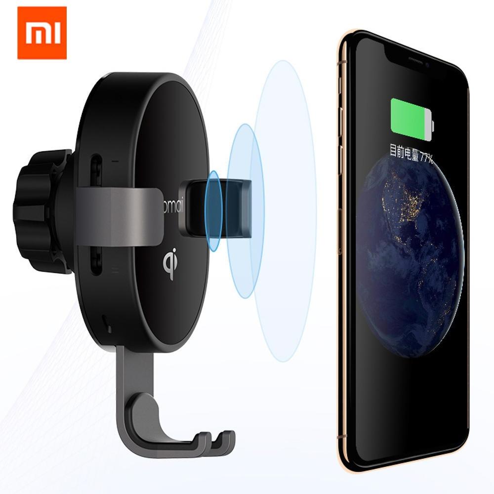 Original XIAOMI Mijia 70mai QI Certification Car smart Phone Holder 10W Fast Wireless Charger for Xiaomi Huawei iPhone, in stock