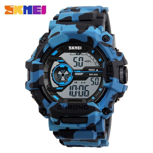 Luxury Brand SKMEI Waterproof Digital Watch Men Military Sports Watches Fashion Casual Men's Student Swim Dress LED Wristwatches