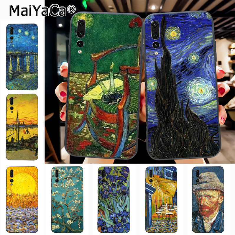 Maiyaca Van Gogh oil painting Luxury High-end phone Accessories Case for Huawei P20 P20 pro Mate10 P10 Plus Honor9 cass(China)