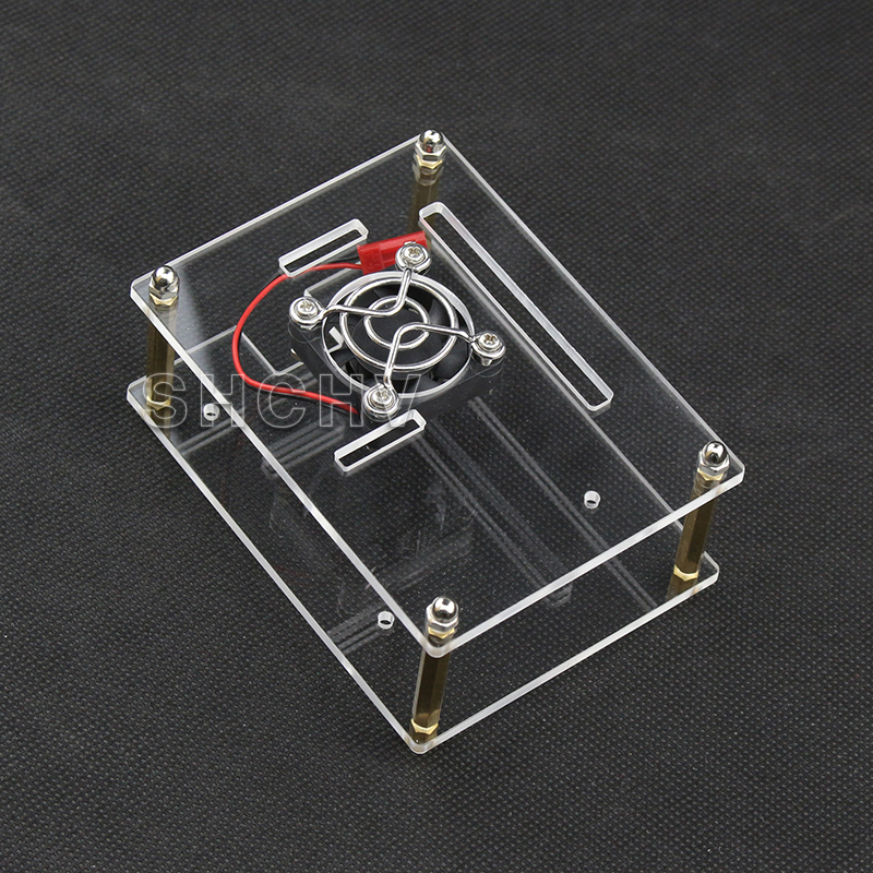 Raspberry Pie 3 Generation B Type Acrylic Shell with Heat Dissipation Fan Stack Layer Number Cluster Shell Support 2 Generation