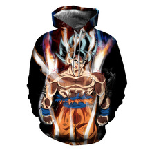 Animation 3D Print Hoodie/Sweatshirt Dragon Ball Unisex Good Quality New Pullover Oversize 5XL Streetwwear Hoodies Men