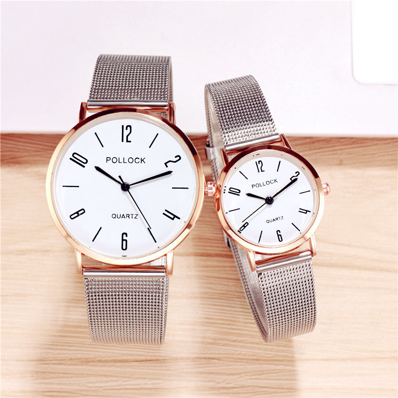 Fashion Lover's Watch Couples Watches Unisex Watch Mesh Strap Women's Quartz Wristwatch Men Watch designer watch with numbers