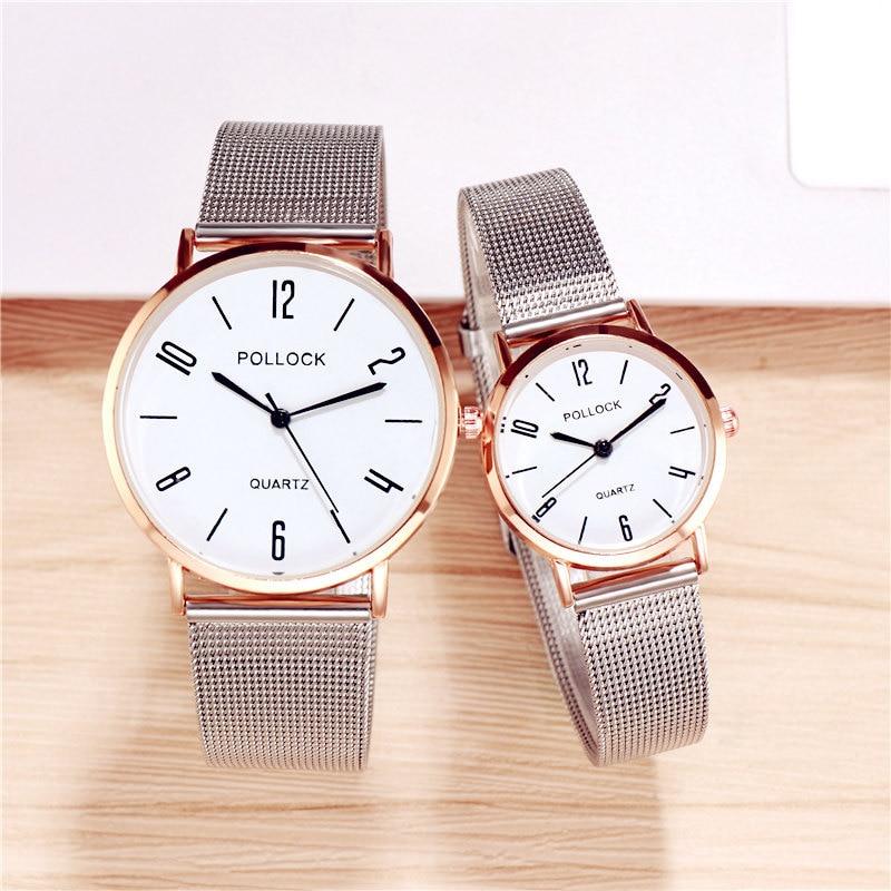Fashion Lover's Watch Couples Watches Unisex Watch Mesh Strap Women's Quartz Wristwatch Men Watch Designer Watch With Numbers