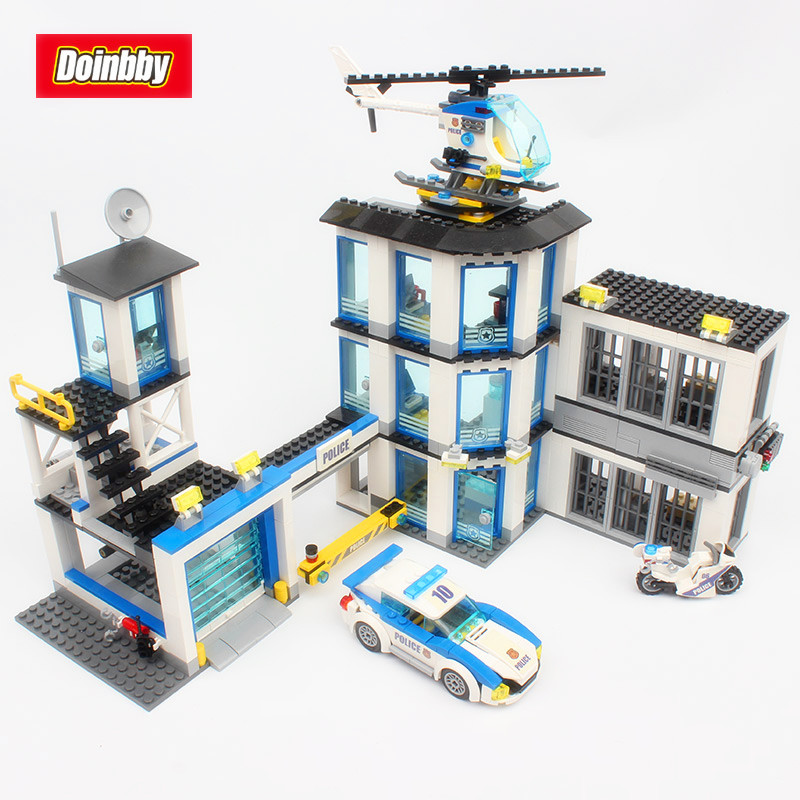 Lepin 02020 965Pcs Creative City Series The New Police Station Set Model Building Blocks Bricks Toys Kids Gifts 60141 dhl lepin 02020 965pcs city series the new police station set model building set blocks bricks children toy gift clone 60141