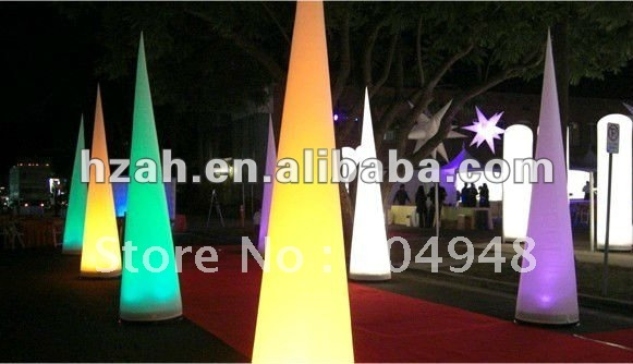 Wedding Inflatable Lighting Cone for Party Decoration lighting inflatable flower for wedding decoration