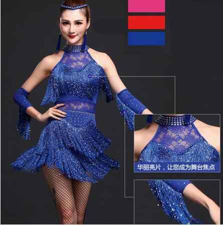 36929f1de974 ... 2018 Latin Dance Dress Women Girls Lady New Sexy Fringe Salsa Ballroom  Tango Cha Cha Rumba ...