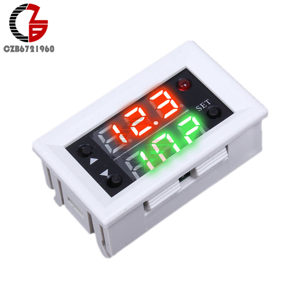 Digital LED Display Time Delay Relay Module Board DC 12V Control Programmable Timer Switch Trigger Cycle Module With Case Числовое программное управление