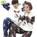 GOPLUS Flannel Adult Pajama Set  Women Santa Deer Sleepwear Snow Couples Pajamas Suits Lovers Clothing Sets Casual Housewear