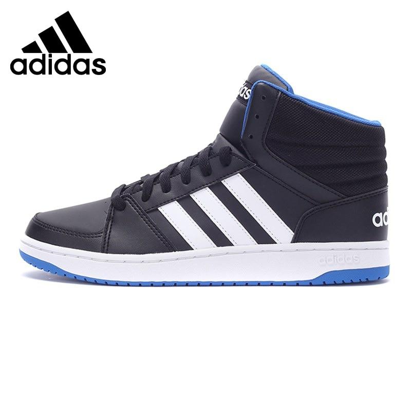 Original Adidas NEO Label L Hoops VS MID Men's Skateboarding Shoes Sneakers