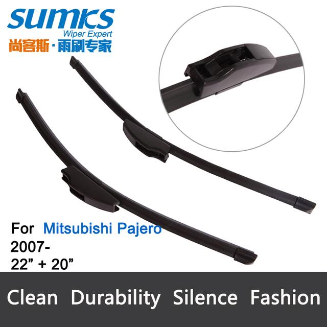 """Lâminas de limpador para mitsubishi pajero (a partir de 2007) 22 """"+ 20"""" fit padrão j gancho limpador braços só hy-002"""
