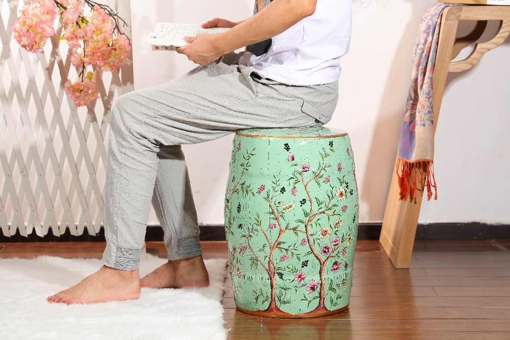 Strange Us 98 0 New Design Colored Glazing Home Decoration Furniture Ceramic Garden Stool In Stools Ottomans From Furniture On Aliexpress 11 11 Double Pabps2019 Chair Design Images Pabps2019Com