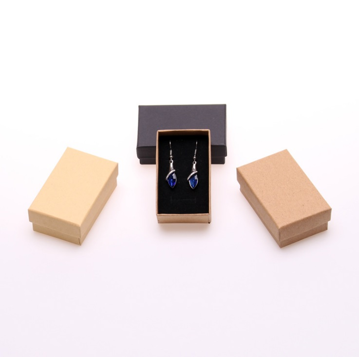 2018 Fashion Kraft paper 12PC/lot New 5*8cm Jewery Organizer Box Rings Storage Cute Box Small Gift Box For Rings Earrings