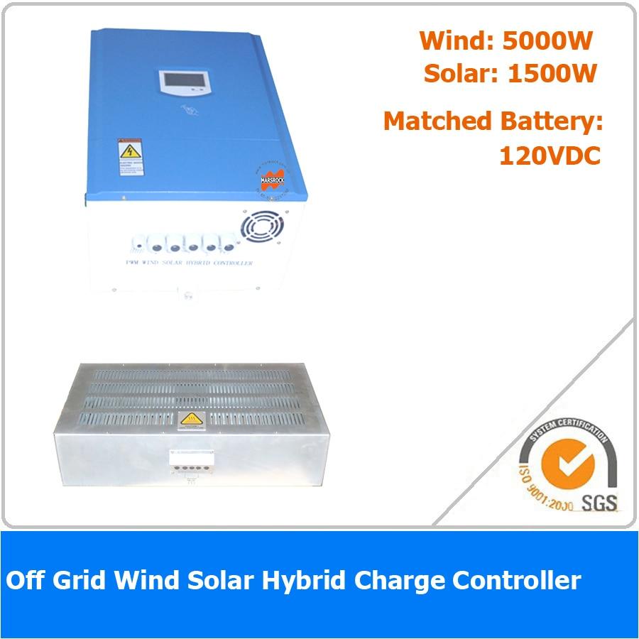 6500W 120VDC Off Grid Wind Solar Hybrid Charge Controller, 5000W Wind Power, 1500W Solar Power6500W 120VDC Off Grid Wind Solar Hybrid Charge Controller, 5000W Wind Power, 1500W Solar Power