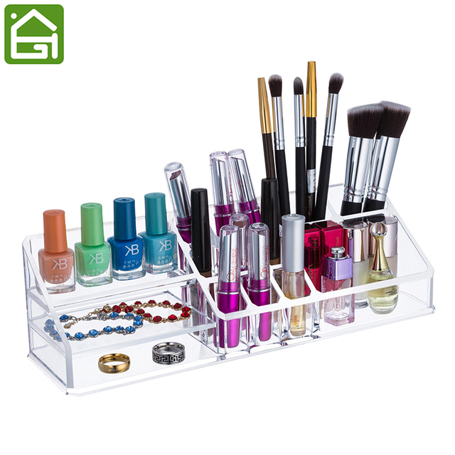 Clear Acrylic Jewelry Makeup Organizer Cosmetic Bathroom Tray for