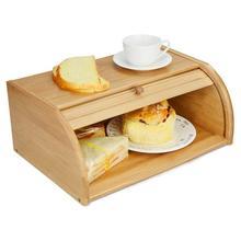 Хлебное ведро хлебная коробка из бамбука Мультифункциональный бытовой Кухонные емкости хлебная коробка с раздвижными дверными ящиками для хранения
