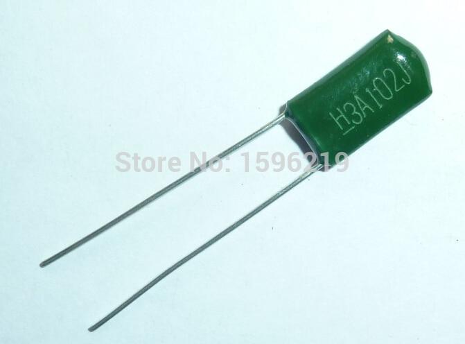 10pcs Mylar Film Capacitor 1000V 3A102J 1000pF 1nF 3A102 5% Polyester Film Capacitor