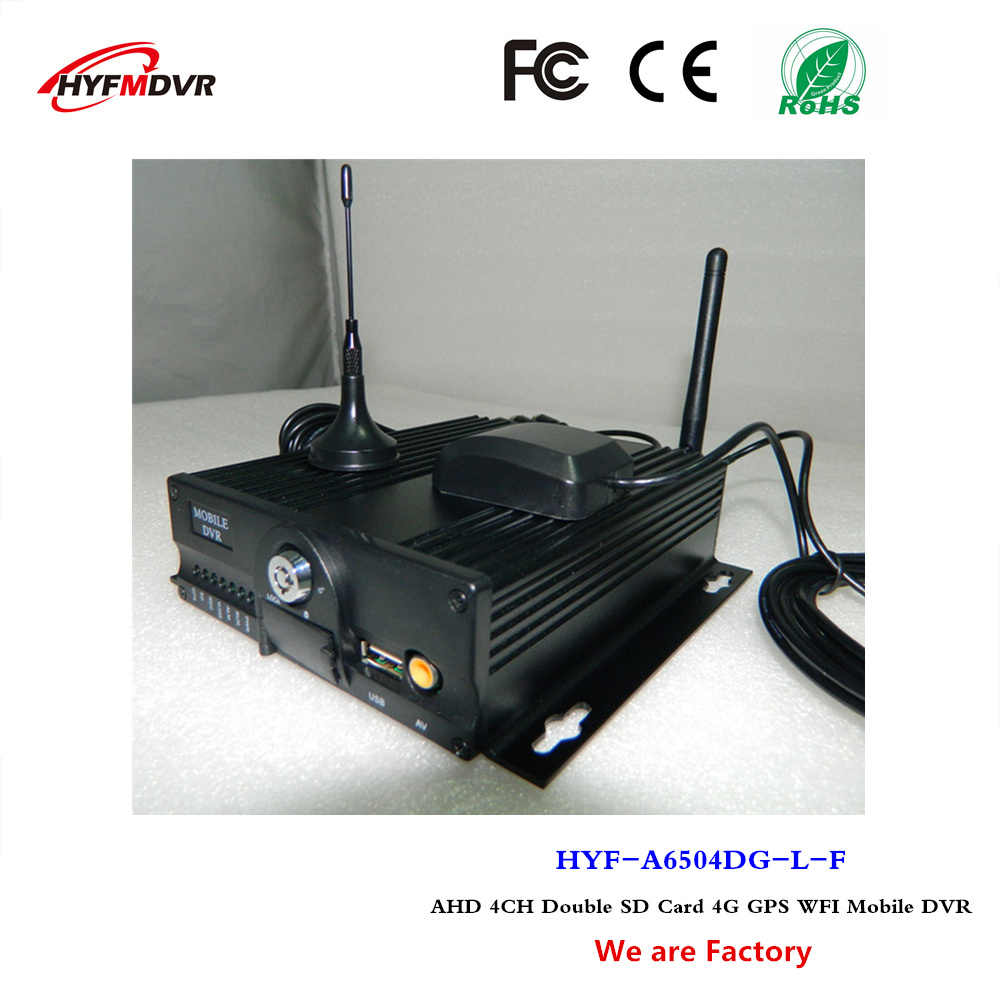 BUS MDVR 4G GPS WIFI mobil video CCTV Monitor host 4CH SD card dvr ponsel