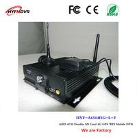 Автобус MDVR 4G gps Wi Fi автомобиля видео CCTV мониторы хост 4CH SD карты Мобильный dvr