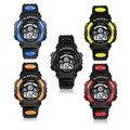Honhx impermeable moda casual niños kid boy led digital quartz alarm fecha reloj de pulsera deportivo relojes de calidad de regalo de navidad