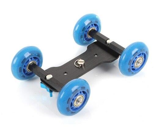 4車輪のデスクトップの卓上台車のDSLRの柵のビデオビデオカメラのためのスケーターのスライダーのカメラの台紙のカメラのホールダーfreebord
