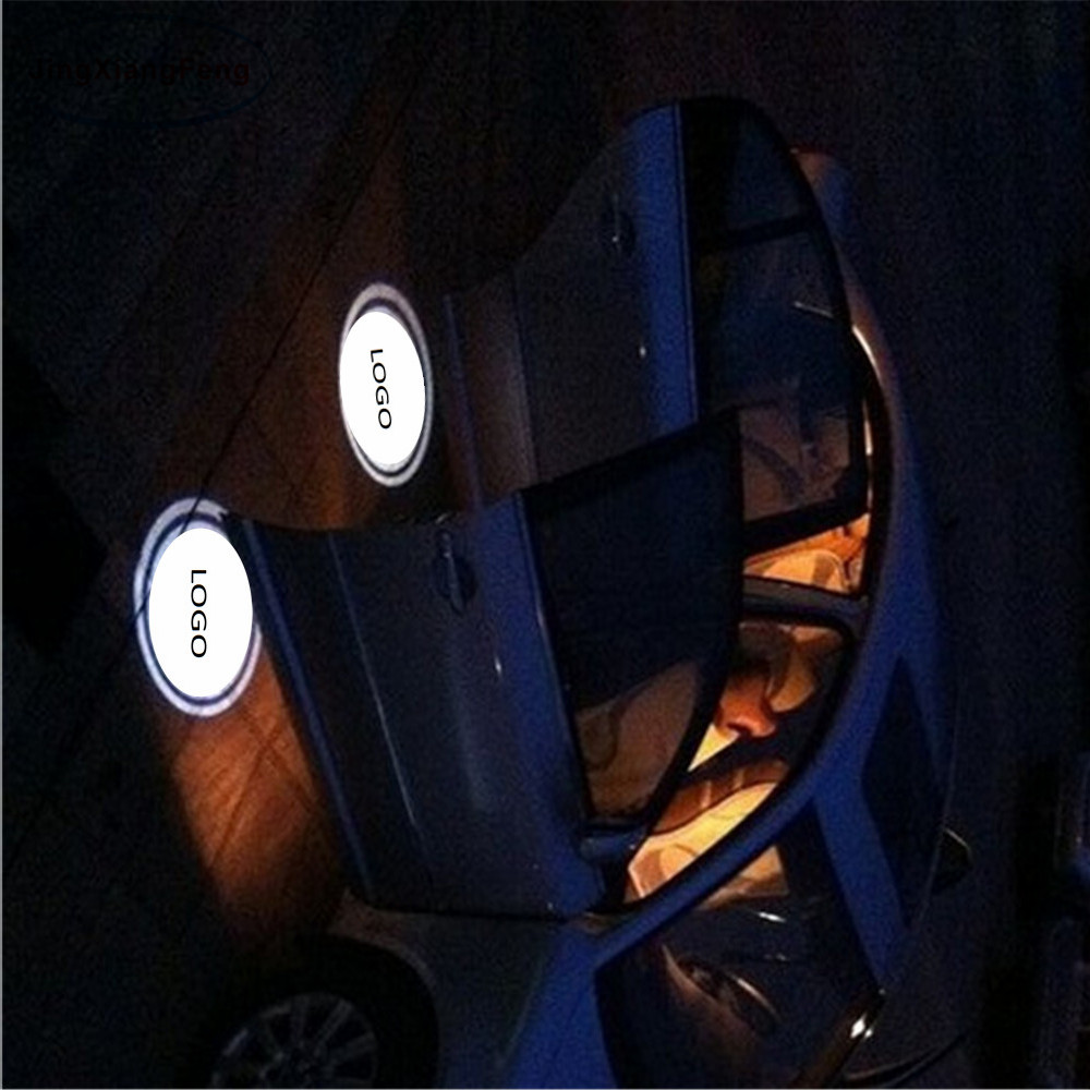 JingXiangFeng 2 x LED No Drilling Car Door Welcome Light Ghost Shadow Projector Laser Courtesy Logo For SKODA Superb