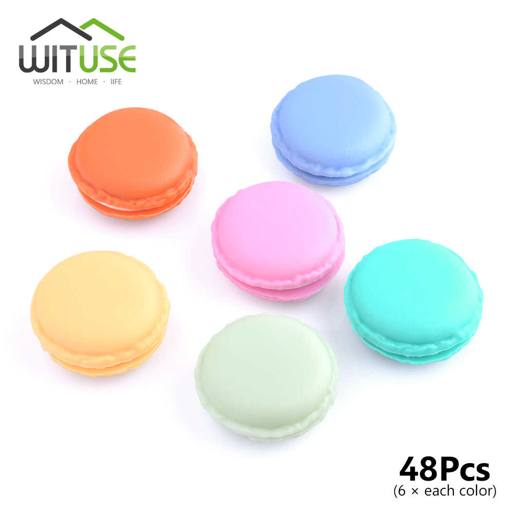 WITUSE 48Pcs/Lot Kawaii Pastel Colors Trinket Jewelery Ear Stud Storage Box Macaroon Cases Candy Mixed Color Organizers Portable